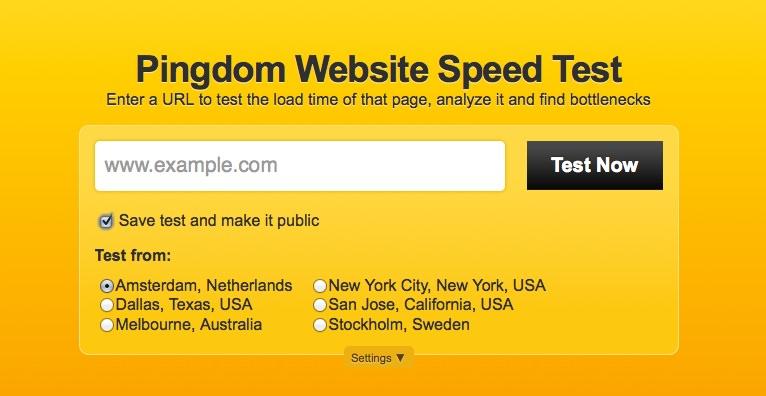 Website Geschwindigkeit Testen mit Pingdomtools