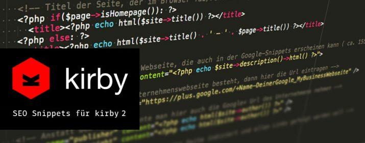 Kirby 2 CMS SEO Snippet für html head + breadcrumb mit Schema.org Auszeichnung