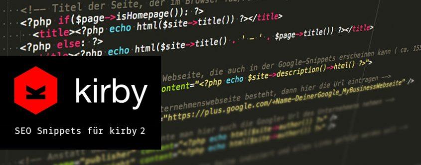 Kirby CMS für Suchmaschinen & Soziale-Netze optimieren
