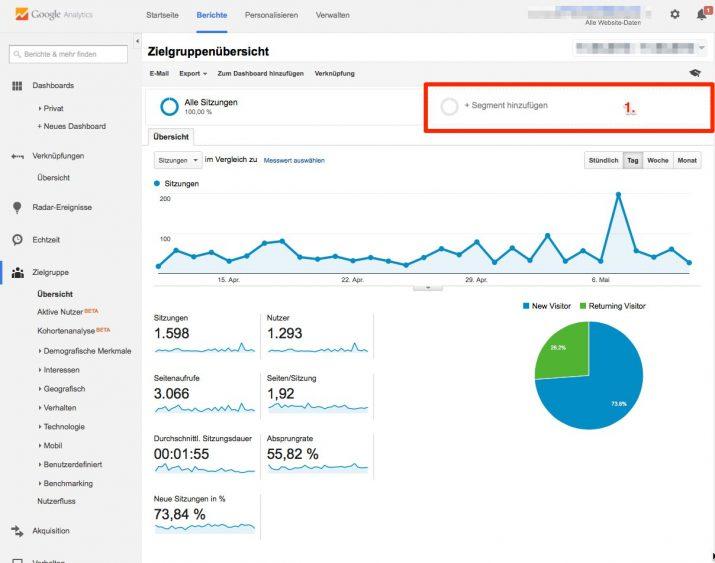 Segment hinzufügen in Google Analytics