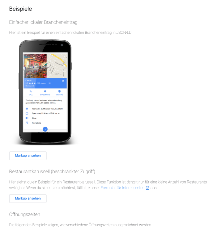 Einfacher lokaler Brancheinetrag in der mobilen Google Suche