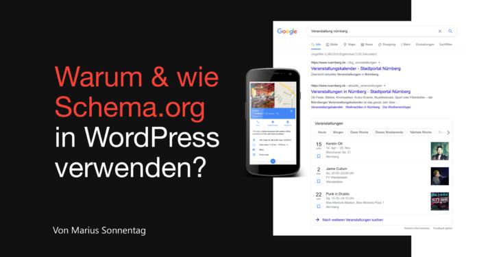 Warum & wie Schema.org in Wordpress anwenden